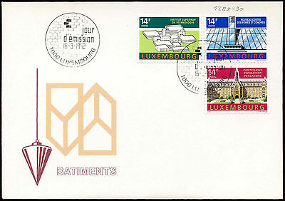 Luxembourg 1992 Buildings FDC First Day Cover#C29087