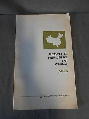 Vintage CIA People's Republic Of China Atlas 1971 Central Intelligence Agency
