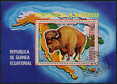 Equatorial Guinea 1970's Bison Cto Used M/S #A92677