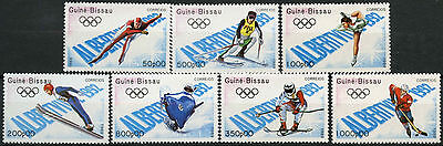 Guinea-Bissau 1989 SG#1166-1172 Winter Olympic Games MNH Set #A92777