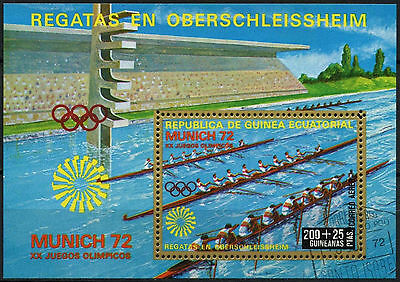 Equatorial Guinea 1972 Olympic Games, Rowing Cto Used M/S #A92638