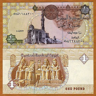 Egypt, 1 Pound, 2014, Pick 50, UNC