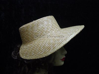 Women's Regency Jane Austen Vintage Antique style straw sun bonnet one size