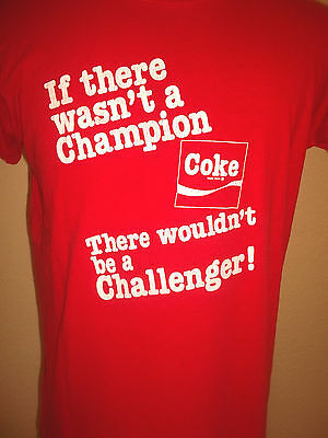 true vintage 80`s Coca Cola shirt oldschool t-shirt soda werbung Gr.XL (M-L)