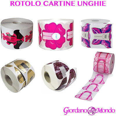 Cartine Ricostruzione Unghie Gel Uv Smalto Nail Art Rotolo Cartine Buffer