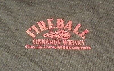 FIREBALL CINNAMON WHISKEY - T-SHIRT - LARGE - BLACK w/ RED PRINT