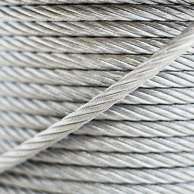 14mm WIRE ROPE 6x37 GALVANISED STEEL metal cable