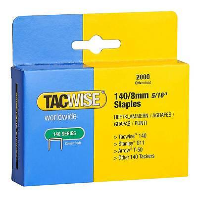 Tacwise 8mm Type 140 Staples For Stanley TR250 Sharpshooter/TRE500/TRE550