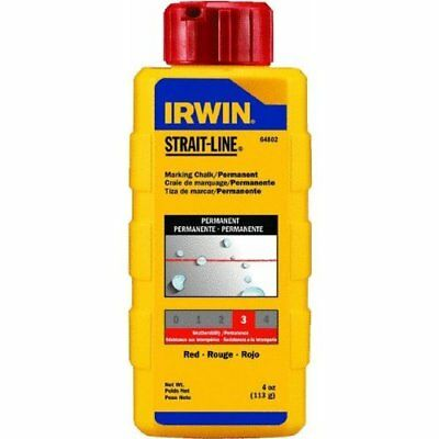 Irwin 64802 Permanent Marking Chalk 4Oz - Red