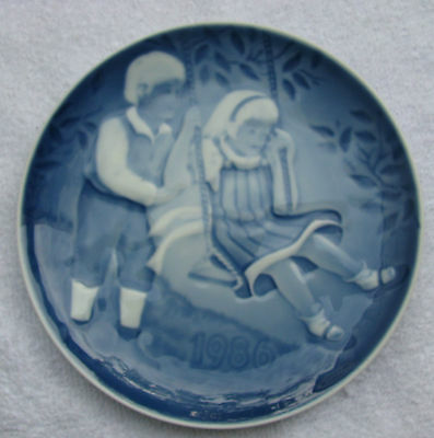 Bing & Grondahl 1986 Children'S Day Collector Plate A Joyful Flight