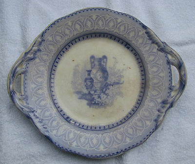 Stunning Early 19Th Century Blue Transfer Ware Plate Tray