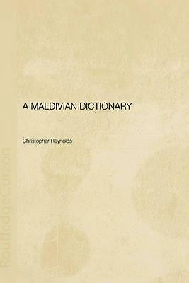 A Maldivian Dictionary by Christopher Reynolds (English) Hardcover Book Free Shi