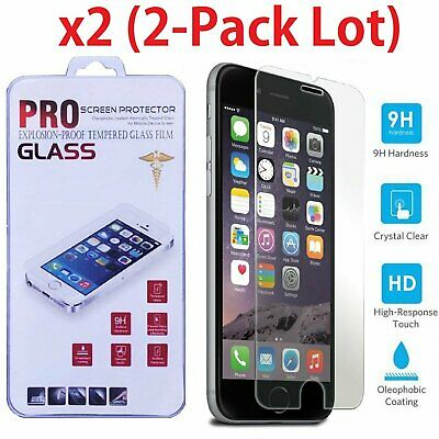 2-PACK Real Tempered Glass Film Screen Protector for iPhone 6  6S / 6S Plus