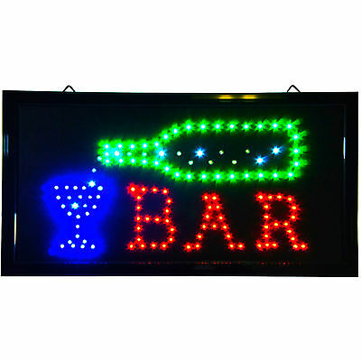 LED open Light Sports Bar Pub Garage Man Cave Sign Cold Beer Liquor Pool neon