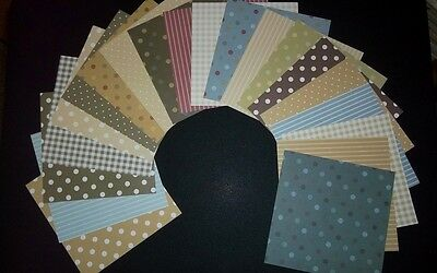 "COUNTRY BASICS Scrapbooking/Cardmaking Papers x 20 - 15cm x 15cm* (6"" X 6"")"