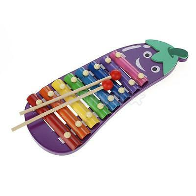 Rainbow Glockenspiel Xylophone Kid Musical Toy Percussion Instrument 8 Tone Note