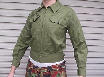 Cotton Zip Jacket Mint - Genuine Vietnam Australian Army Issue - 1960-70's Date