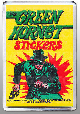 THE GREEN HORNET stickers wrapper  LARGE FRIDGE MAGNET  - CLASSIC COOL!