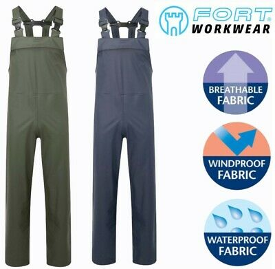 FORTEX AIR-FLEX Waterproof Windproof BREATHABLE Bib N Brace Dungaree Overalls **