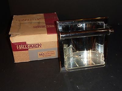 "Vtg Nos 6"" Hall-Mack 665 Coronado Chrome Recessed Soap & Grab Dish + Orig Box"
