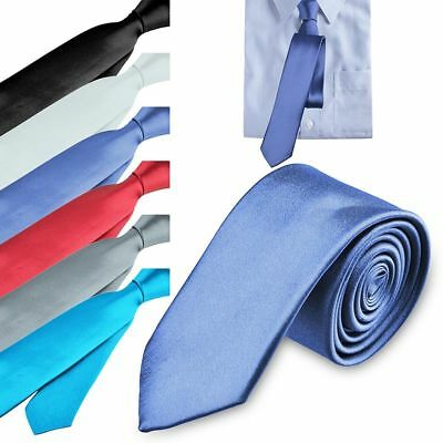 Casual Solid Plain Classic Skinny 100% New Silk Woven Slim Necktie Men's Tie