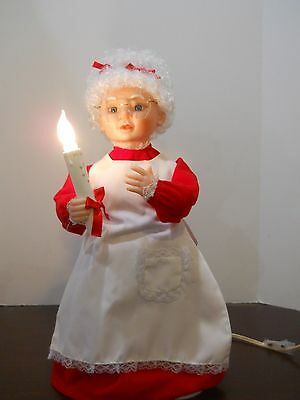 "Christmas Motionette Animated vintage Mrs santa claus 20"" tall moving figure box"