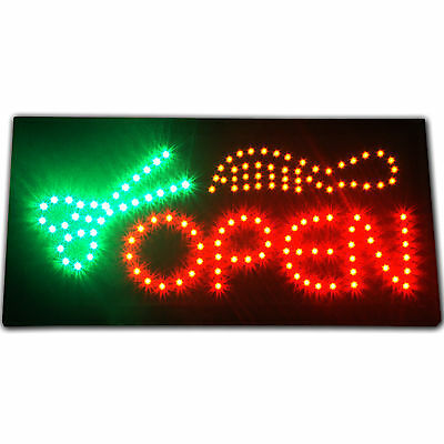 Bright Hair Cut Beauty Salon open LED Business Sign neon Animated Barber Shop