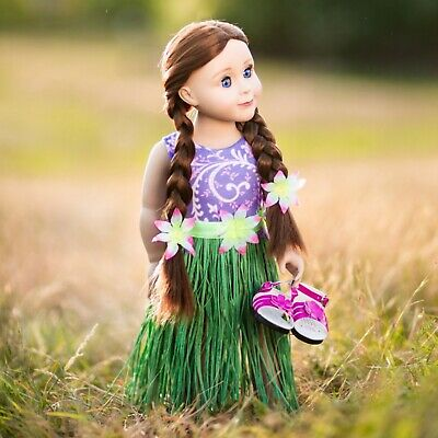 DOLL CLOTHES FOR 18 Inch AMERICAN GIRL The Queen's Treasures HULA SWIM OUTFIT