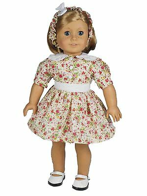 "18"" Doll Clothing 1930's Style Cotton Dress Fits American Girl Doll Clothes"