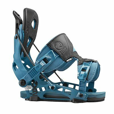 New Flow NX2 Fusion Blue 2016 Snowboard Bindings M +Free Grayne Valdez Goggles