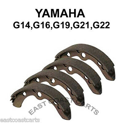 Yamaha G14, G16, G19, G22 1993-up Rear Brake Shoe (set of 4 Shoes) JN3-F5330