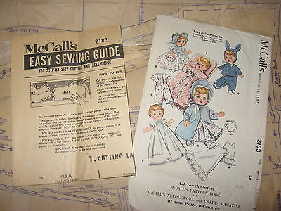 Ginette Tiny Tears Betsy Wetsy Dydee Doll Clothes ORIGINAL PATTERN 2183 19-21