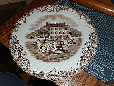 "Heritage Hall Johnson Brothers 10""dinner plate Georgian TownHouse Ironstone 4411"