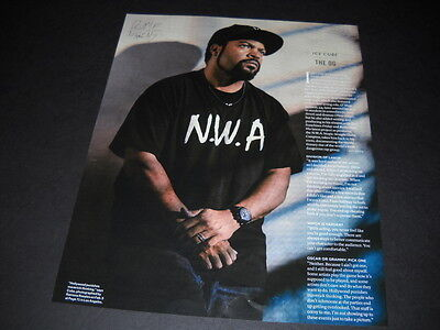 ICE CUBE wearing NWA tee shirt is the OG detailed PROMO POSTER AD mint condition