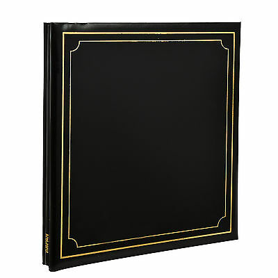 Extra-Large Black 32x26cm Self Adhesive Photo Album 24/Sheets 48/Sides AL-9175