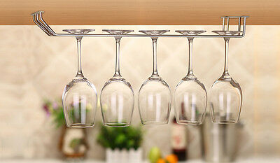 Single Row of Wine Glass Rack Holder Hanger for Bar Shelf
