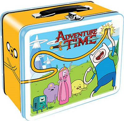 Adventure Time TV Series Main Cast Large Carry All Tin Tote Lunchbox NEW UNUSED