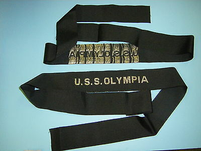 0538   USS Olympia Hat Tally (Woven Repro)