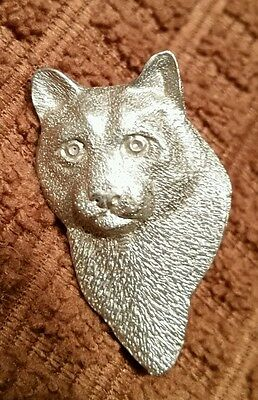 Mountain Lion head hand-crafted fine pewter pin by GG Harris nittany