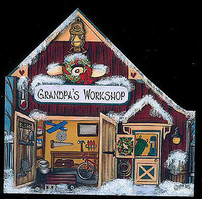 Brandywine CHRISTMAS Downtown Collection: GRANDPA'S WORKSHOP Shelf Sitter