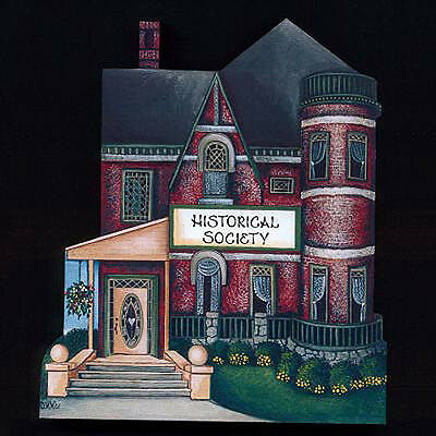 Brandywine Collectible Houses & Stores: HISTORICAL SOCIETY Shelf Sitter