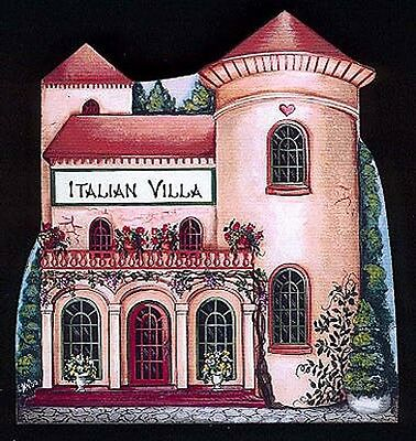 Brandywine Collectible Houses & Shops: ITALIAN VILLA Tuscany Home - Shelf Sitter