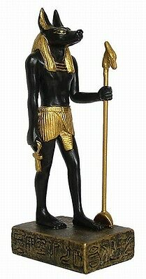 Egyptian God Anubis Miniature Statue Jackal Afterlife Figurine #1280