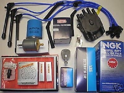 Tune Up Kit (Fits:Nissan Quest) 1993 to 1997 Distributor Cap,Rotor,Filters Wire