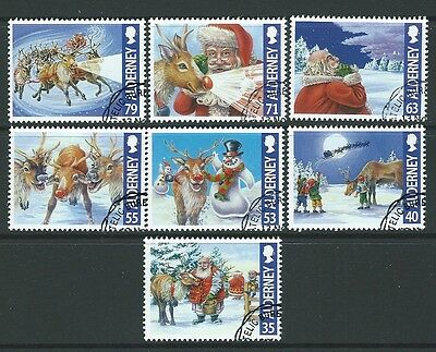 Alderney 2013 Christmas Rudolph  Set Of 7 Fine Used