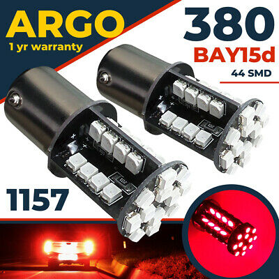 44 Smd Led Red 380 1157 Bay15D Rear Stop Tail Bulbs Hid Fog Super Bright 12V