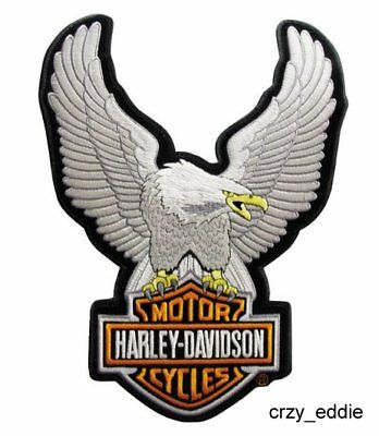 Harley Davidson Upwing Eagle Bar And Shield Vest Patch * Small * New In Package