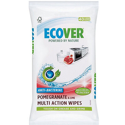 Ecover Antibacterial Multi Action Wipes x 40