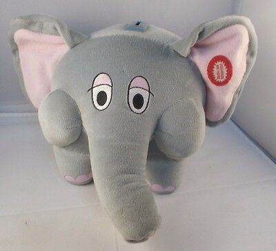 Applause Elephant Plush Piggy Bank w/ Sounds