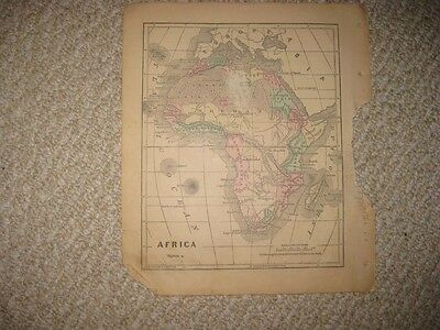 Antique 1858 Africa Colton & Fitch Handcolored Map Cape Colony Of Good Hope Nr